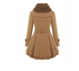 Wholesale Woollen Dresses - s-4xl women winter wild jackets coat long thick wool coats women woollen coat double-breasted jacket winter dress fur