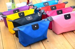 Wholesale Large Cosmetic Bag Nylon Wholesale - New Fashion Large capacity waterproof zipper storage bag cosmetic bag handbag multicolor optional Free shipping a691