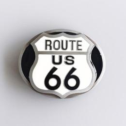 Wholesale Cars Route - New Vintage Enamel Route US 66 Motorcycle Biker Rider Belt Buckle Gurtelschnalle Boucle de ceinture BUCKLE-AT069 Brand New Free Shipping