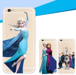 Wholesale Iphone 4s Case Princess - For iPhone7 Transparent Clear Princess Snow Queen Elsa Anna Ultrathin Soft TPU Cover Case For iPhone 4 4S 5 5S 5C 6 7 Plus 4.7 5.5