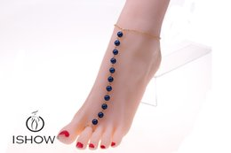 Wholesale Iron Chain Link - Iron Foot Jewelry Anklets Hot Sale Gold Anklet Link Chain For Women Girl Foot Bracelets Fashion Jewelry Wholesale HYFX1041