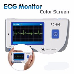 Wholesale Heal Force - TSY Heal Force PC-80B Advanced Handheld ECG Monitor Mini Portable LCD Electrocardiogram Heart Monitor Monitoring Health Care Machine
