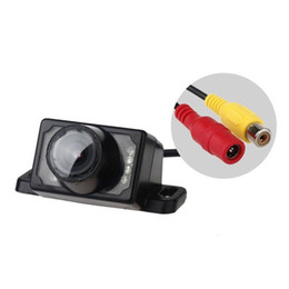 Wholesale led cmos camera - E220 Car Rear View Camera 8 LED Night Vision Waterproof 1 3 Colorful CMOS 120 Angle Reverse camera for for Security Backup Parking