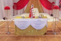 Style européen grand mariage or et cristal perles pilier et fleur stand style le plus fin ? partir de fabricateur