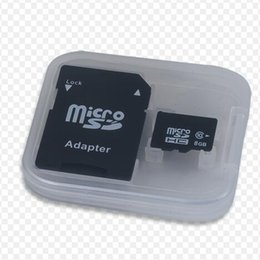 Wholesale Memory Card Plastic 8gb - 100% Real capacity 4GB 8GB 16GB 32GB Class 6 Micro Memory SD Card + Free SD Adapter + White Plastic Storage Case