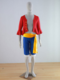 Wholesale one piece luffy costume - ONE PIECE Cosplay Monkey D Luffy cosplay costumes