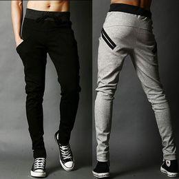 Wholesale Hip Hop Skinny Harem Style - Men long pants hip-hop fashion Harem pant korean style street dance cool pop men trousers New Arrival black gray