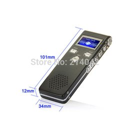 Wholesale Telephone Wav Recorder - Wholesale- New 8GB Digital Audio Voice Recorder Rechargeable Dictaphone Telephone with MP3 Player