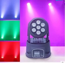 Wholesale Moving Led Wash - Hot Advanced dj led moving head lights china led wash mini 7x12w rgbw quad moving heads light with