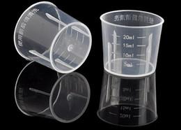 Wholesale Wholesale Medicine Cups - 20ML Travel Cup Of Liquid PE Liquid Case Small Mouth Medicine Cap With Scale
