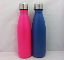 Wholesale blue express - Wholesale 350ml 500ml 750ml 1L 1.2L 1.5L stainless steel vacuum coke bottle creative thermos cup DHL or SF EXPRESS free delivery