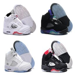 Wholesale Nylons Online - High quality jumpman sneakers air Retro 5 basketball shoes Men sports shoes online wholesale US Free Shipping
