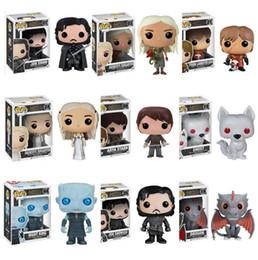 Canada 9 Style Funko POP Personnages d'action Game of Thrones Jon Snow Porte-clés Porte-clés Un chant de glace et de feu D.C Qui Deadpool Offre