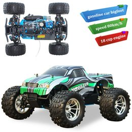 Wholesale Nitro Channel Rc Cars - 2016 Direct Selling Oyuncak Train Cars Pixar Bigfoot Rc Car 1:10 High Speed Remote Control Gas Cars 4wd Truck Powered Off-road Buggy Nitro