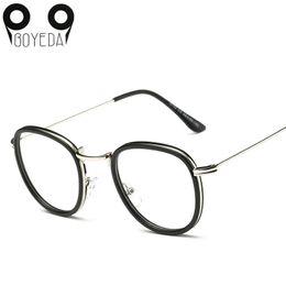 282091cf6da Wholesale- BOYEDA New Round Eyeglasses Frames Women Eyewear Metal Spectacle  Frame Clear Lens Computer Glasses Optical Female Grade Glasses optical  grade ...