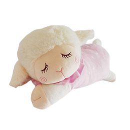"""Wholesale Baby Doll Sheep - 18.11"""" Pink Sleeping Sheep Plush Toy Doll Baby Soft Stuffed Doll Gift for Kids Baby"""