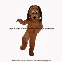 Wholesale Free Real Dogs - High quality carnival adult dog mascot costume free shipping,Real pictures deluxe party animal brown dog mascot costume factory direct