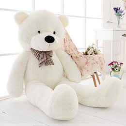 Wholesale Plush Teddy Bear Soft Toy - Free Shipping 47''Giant Big Huge White Teddy Bear Plush Stuffed Soft Toys doll kids Gift 120cm
