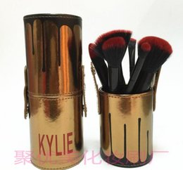 Wholesale Foundation Piece - Kylie Makeup Brush Cosmetic Foundation BB Cream Powder Blush 12 pieces Makeup Tools 3 colors in stock