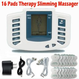 Wholesale Circulation Massager - Electrical Stimulator Full Body Relax Muscle Therapy Massager Massage Pulse tens Acupuncture Health Care Slimming Machine 16pads