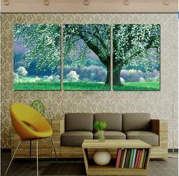 Conjunto de pintura de tres paneles online-Cuadros Decoracion 2016 Nuevo Hot Has Three Wall Art Painting Pictures Árbol de flores sobre lienzo Set The Room I Love You Sin marcos