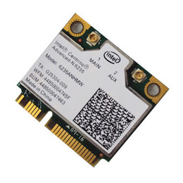 Wholesale Wifi Card Pcie - Wholesale- Laptop wireless lan card for Intel Centrino Advanced-N 6235 6235ANHMW WIFI card Bluetooth 4.0 Half MINI PCIe 300 Mbps