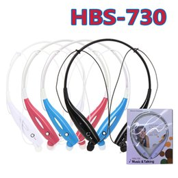 Wholesale Wholesale Sport Headbands - NEW HBS-730 Wireless Bluetooth Headphones HBS 730 Neckband Hands Free Sport Stereo Headset Head phone Earphone for Samsung iphone with retai