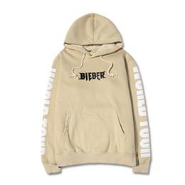 Wholesale Cool Hip Hop Clothes - Wholesale-High quality cool clothing 2016 hip hop streetwear man hoody men's hoodie justin bieber Purpose Tour hoodies khaki size S-2XL