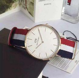 Wholesale Brand Watches New Model - 2017 New model Daniel Wellington Watch 40mm men watches 36mm Women Watches Luxury Brand Quartz Watch DW Clock Relogio Feminino Montre Femme