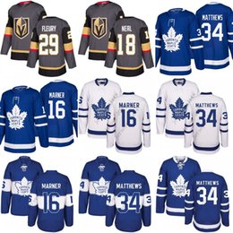 Wholesale Red Leafs - 2018 Youth Men Toronto Maple Leafs 34 Auston Matthews 16 Mitch Marner Oilers Connor McDavid Blue 29 Marc-Andre Fleury 18 James Neal Jersey