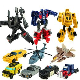 Wholesale 7pieces set Transformation Robot in Simulation toys Autobots Bumblebee Megatron kids Action Figures gifts