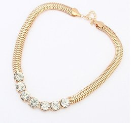 Wholesale Trend For Chain Jewelry - Wholesale-New 2015 Hot Pendant Necklace Women Jewelry Trends Steam Punk Chain Statement Necklaces Rhinestone Pendants For Gift Party