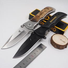 Große taschenmesser online-Big Size Browning Messer 339 Tactical Survival Messer Klappmesser Gehärtetem 440C 57HRC Taschen Jagdmesser Freien EDC Werkzeuge Freies verschiffen