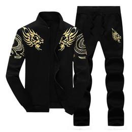 Wholesale Hooded Sweatshirt Blank - Fashion Men Winter hoodies Sporting sportsuit Mens Sweatshirt blank Sportswear hooded hoody men Tracksuits 2pcs free shipping