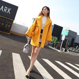 Wholesale Korean Women Xs Wool Coat - 2017 Korean New Winter Women Trench Coat Thick Warm Cashmere Long Slim Golden Belt Wool Coat Female Windbreaker Turn-down Collar