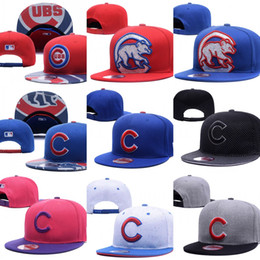 Wholesale 2017 Hot Sales Chicago Cubs Baseball Cap Embroidered Team logo Fitted Cap Sport Fit Hats Colorfull