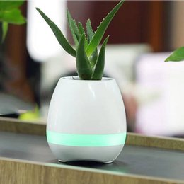 Wholesale Singing Can - Mini TOKQI K3 smart flowerpot Smart Bluetooth Music Speaker With Light Touch Plant Can Sing songs Stress Toy For Anxiety Stress Relief