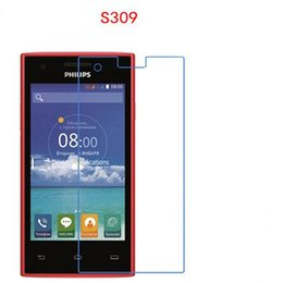 Wholesale Phone Philips - 10 pcs HD Soft Explosion proof touch Screen Protector phone film for PHILIPS S309