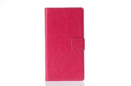 Wholesale Xperia Z Leather Flip Case - For Sony Xperia Z Z1 Z1mini L36H L39H C6603 Luxury Wallet Leather Flip Case With Card Slots Stand Function Soft TPU Inside