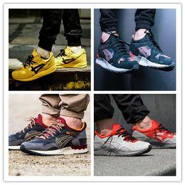 Wholesale Red Lighting Gels - Free Shipping Gel lyte iii V 3 5 Men Women Sport Casual Shoes Original Black Denim Walking Saga Sneakers Athleitc kinsei Size 36-44