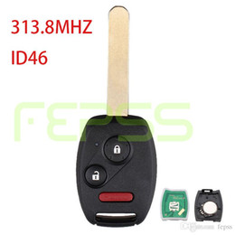 Wholesale Honda Fit Sports - Replacement Remote Car Key Fob 3 button CWTWB1U545 313.8MHZ ID46 for Honda 2005 2006 2007 2008 2009 Fit Sport Pilot