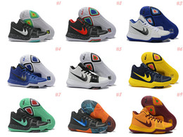 Wholesale Slip Basketball Shoes - 16 Colors Mens Kyrie Irving 3 Easer Basketball Shoes bright crimson tie all star Sport sneakers original Retru effect for sale us7-12