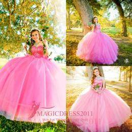 Romántico, rosa, princesa, quinceañera, vestidos, vestido de bola, cariño, con cuentas, por encargo, vestidos de fiesta de graduación de organza con gradas desde fabricantes