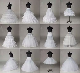 Wholesale Mermaid Style Petticoats - Free Shipping 10 Styles White A Line Balll Gown Mermaid Wedding Party Dresses Underskirts Slips Petticoats With Hoop Hoopless Crinoline