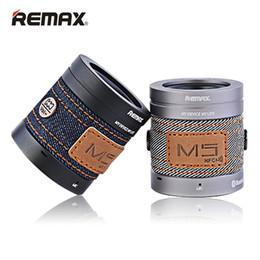 Wholesale M5 Phones - REMAX Cowboy Style Music Player Portable Speakers Bluetooth Smart Speaker NFC Aluminum alloy M5 Soundbar Speaker with retail box