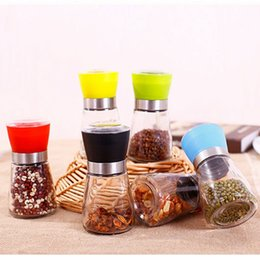 Wholesale Plastic Salt Pepper Grinders - High Quality Best selling Glass Pepper set Salt Herb Spice Hand Grinder Mill manual pepper mill