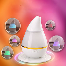 Wholesale Wholesale Ultrasonic Diffuser - Wholesale- White ABS USB Charging 12.8*12.8*15.5cm LED Air Humidifier Incense Burners Essential Oil Ultrasonic Aroma Therapy Diffuser 250mL