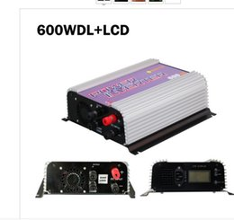 Wholesale Grid Tie Inverter Wind Lcd - Free Shipping 600W LCD display Wind Power Grid Tie Inverter with Dump Load Controller Resistor for 3 Phase wind turbine