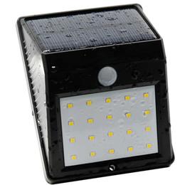 2019 легкие отверстия Холодный белый солнечный светодиодный настенный светильник дешево легкие отверстия