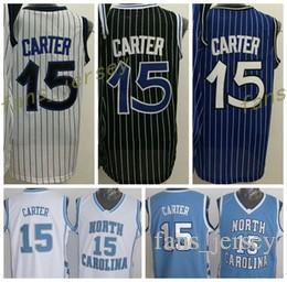 Wholesale College Basketball Teams - Cheap 2016 Men 15 Vince Carter Jersey Throwback North Carolina Vince Carter College Shirts Uniforms Team Blue Black White Purple